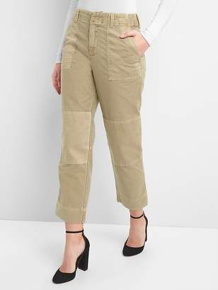 Gap High Rise Patch Utility Chinos