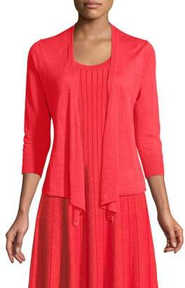 Nic+Zoe 4-Way Linen-Blend Knit Cardigan Sweater, Petite