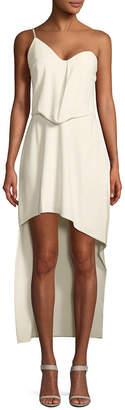 Halston Asymmetric High-Low Cami Dress