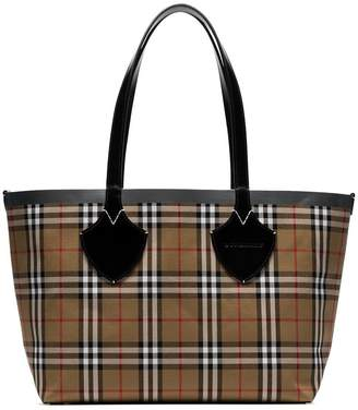 Burberry multicoloured giant reversible vintage check tote