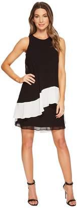 Lauren Ralph Lauren Kaleighna Two-Tone Georgette Dress Women's Dress
