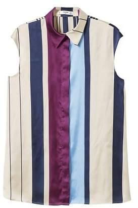 MANGO Striped satin blouse