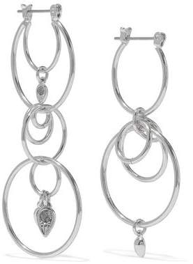 Luv Aj Eclipse Silver-Tone Crystal Earrings
