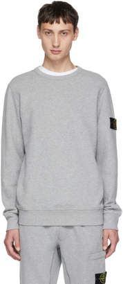 Stone Island Grey Logo Arm Badge Sweatshirt