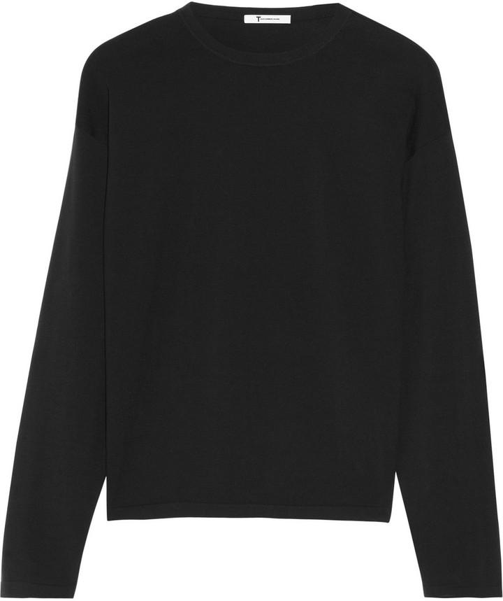 Alexander Wang Cotton-blend and jersey top