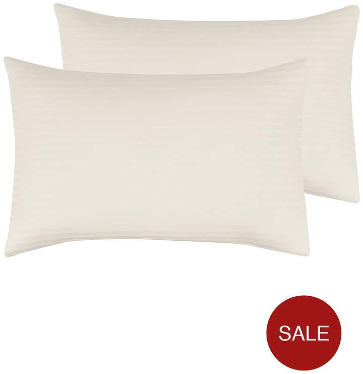 Luxury 300 Thread Count Soft Touch Sateen Stripe Pillowcases Pair
