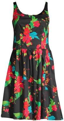 Nanette Lepore Tropical Print Cotton Dress