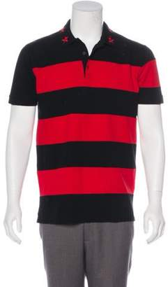 Givenchy 2012 Asymmetrical Striped Polo red 2012 Asymmetrical Striped Polo