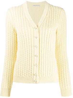 Alessandra Rich cable knit V-neck cardigan