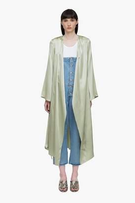 Genuine People Silk Bell Sleeve Wrap Kimono