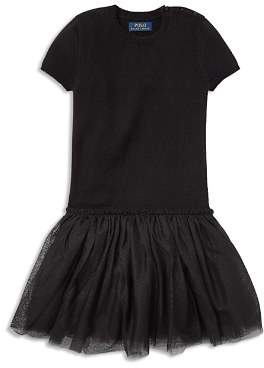 Ralph Lauren Girls' Tulle Sweater Dress - Little Kid