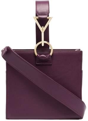 Tara Zadeh purple nasim leather tote bag