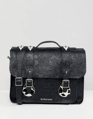 Dr. Martens embossed leather satchel 15 inch