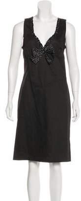 Blumarine Bow-Accented Midi Dress