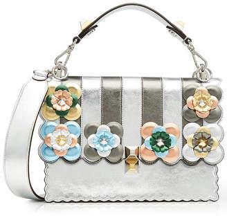 Fendi Kan I Metallic Leather Shoulder Bag