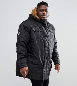 Loyalty And Faith PLUS Parka Jacket with Faux Fur Trim Hood