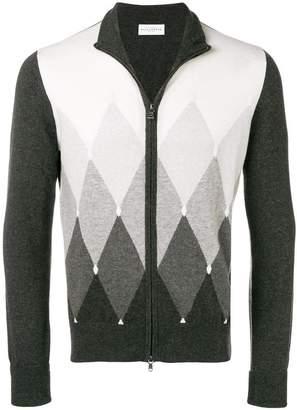 Ballantyne zipped argyle-knit cardigan