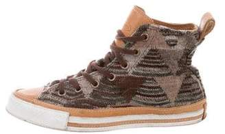 Converse Missoni x Patterned Knit High-Top Sneakers