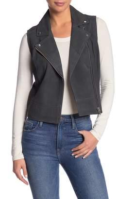 Level 99 Lamb Suede Leather Vest