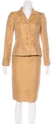 Oscar de la Renta Jacquard Skirt Suit