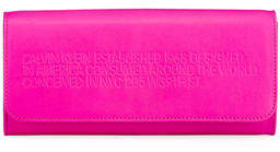 Calvin Klein Smooth Neon Leather Wallet on Crossbody Chain