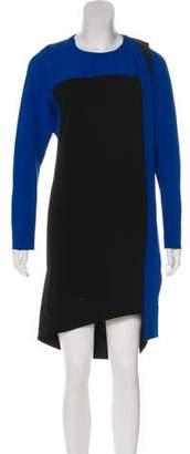 Balenciaga Long Sleeve Knee-Length Dress