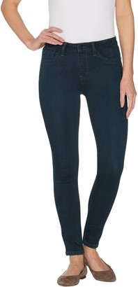 Laurie Felt Silky Denim Overdyed Skinny Pull-On Jeans