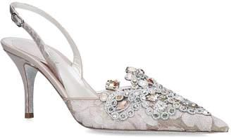 Rene Caovilla Lace Slingback Heels