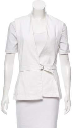 Helmut Lang Leather Trim Vest