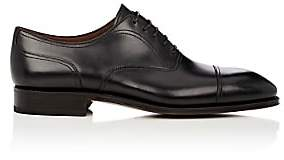 Carmina Shoemaker Men's Leather Cap-Toe Balmorals-Black