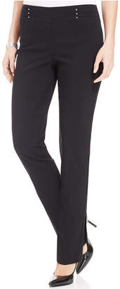 JM Collection Studded Pull-On Pants $49.50 thestylecure.com