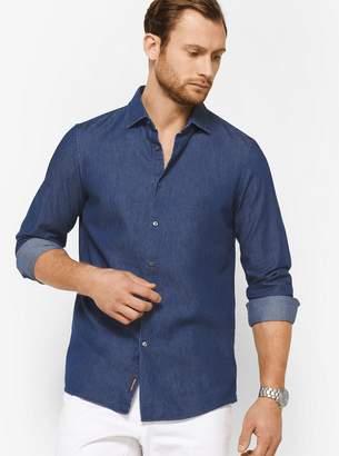 Michael Kors Slim-Fit Chambray Cotton Shirt