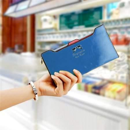 Feel New Fashion Women Sweet Multi-Card Holder Long Wallet PU Leather Purse