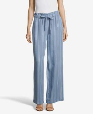 John Paul Richard JohnPaulRichard Striped Soft Wide Leg Pants with Tie Front