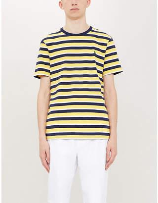 Polo Ralph Lauren Striped logo cotton-jersey T-shirt