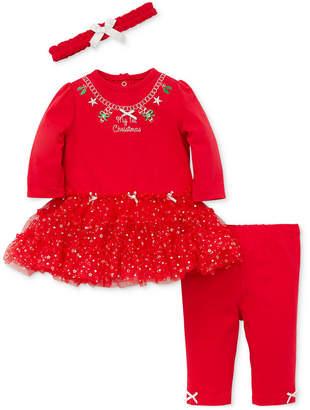 Little Me Baby Girls 3-Pc. Headband, Tutu Dress & Leggings Set