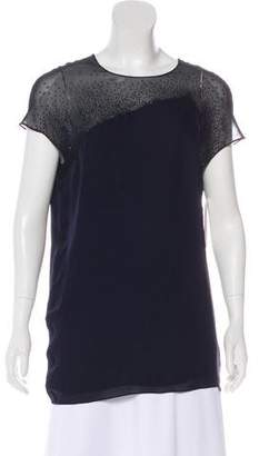 Narciso Rodriguez Silk Beaded Blouse