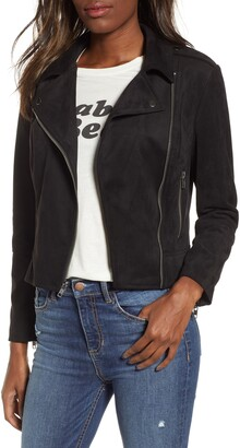 BB Dakota Not Your Baby Faux Suede Moto Jacket