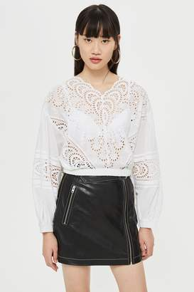 Topshop Broderie Blouse