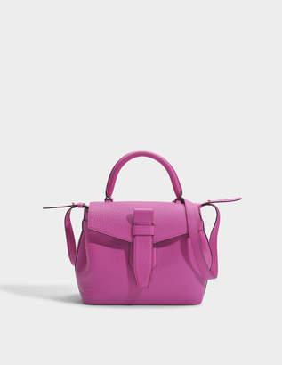 Lancel Charlie Handbag S in Cyclamen Buffle Skin