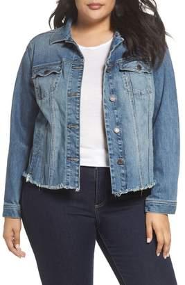 Lucky Brand Frayed Hem Denim Jacket