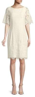Adrianna Papell Short-Sleeve Lace Dress