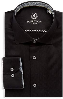 Bugatchi Men's Cotton Long-Sleeve Dress Shirt
