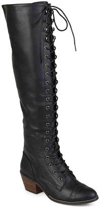 e8145cd2635 Journee Collection Bazel Wide Calf Over The Knee Combat Boot - Women s