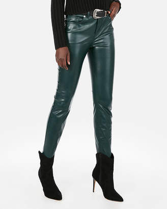 Express High Waisted (Minus The) Leather Ankle Leggings