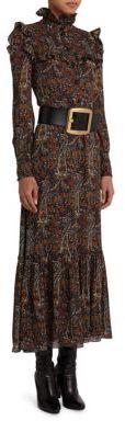 Saint LaurentSaint Laurent Paisley Print Maxi Dress
