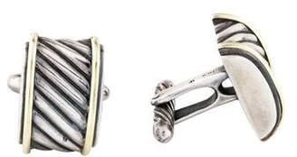 David Yurman Two tone Cable Cigar Cufflinks
