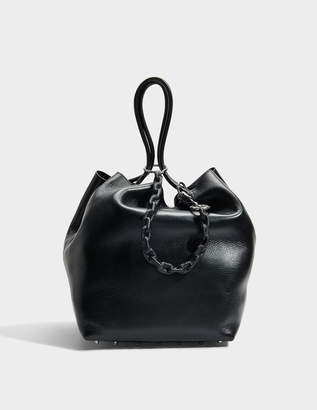 Alexander Wang Roxy Large Tote Bag in Black Calfskin