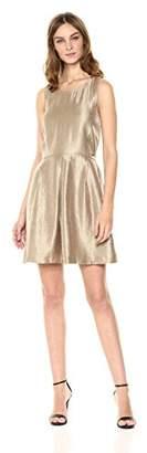 Armani Exchange A|X Women's Metallic Cut-Out Back Dress