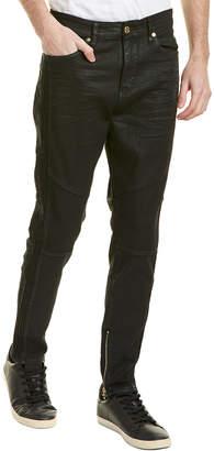 True Religion Mick Black Crater Slouchy Skinny Leg